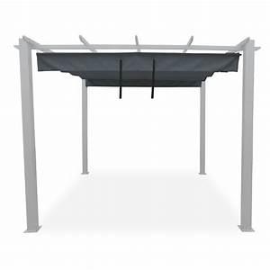 Toile Pour Tonnelle 3x3 : toile d 39 ombrage pour tonnelle autoportante roussillon gris ~ Dailycaller-alerts.com Idées de Décoration