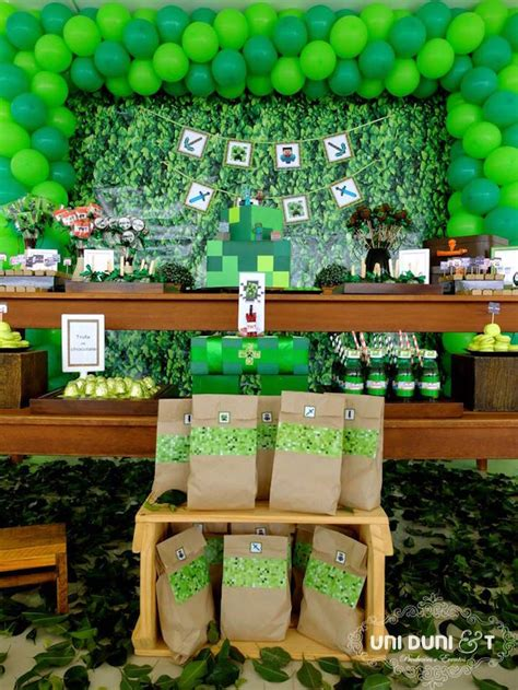 Minecraft Party Decorations Ideas Elitflat