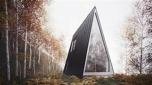 Cabana Minimalista Em Forma De A  U00e9 Um Templo De Serenidade