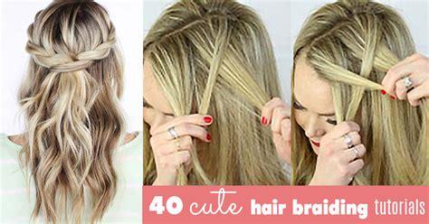 cute hair braiding tutorials