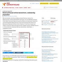 Notenschlüssel Online Berechnen : tools pearltrees ~ Themetempest.com Abrechnung