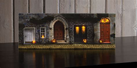 radiance lighted canvas small halloween front door