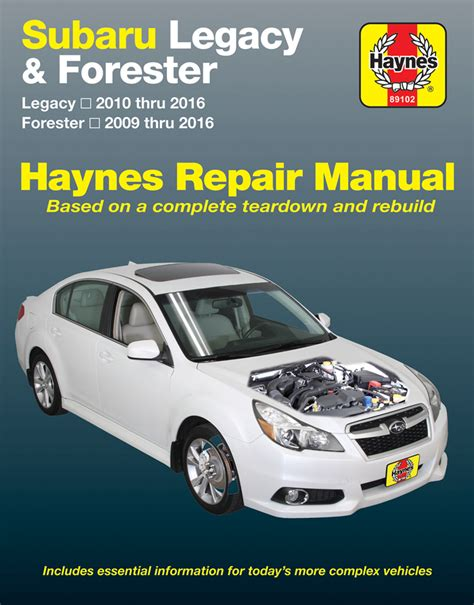 download car manuals 2010 subaru legacy engine control subaru forester legacy haynes repair manual 2009 2016 hay89102
