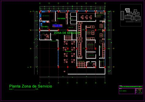 specialized infections hospital  dwg full project