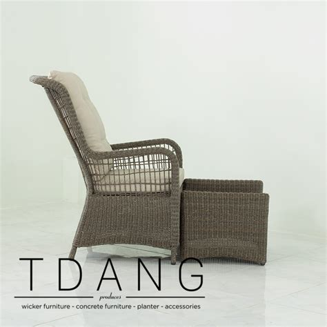 elise relax wicker chair with ottoman tdang furniture