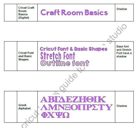 The Cricut Lovers Guide To Design Studio Cricut Fonts