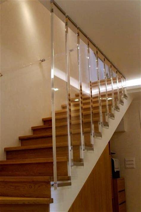 corrimano in plexiglass poliart scale in plexiglass
