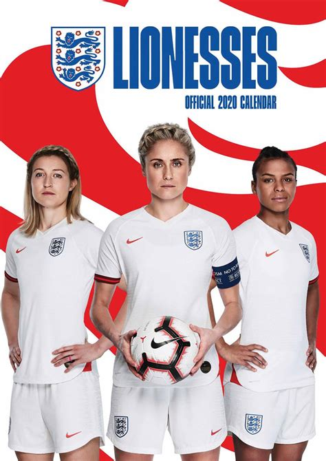 Get the latest england football news, team, fixtures and results plus updates from harry kane and gareth southgate's three lions squad. England Womens Football, Lionesses A3 Calendar 2020 at Calendar Club