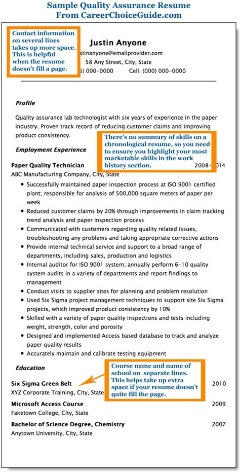Quality Paper For Resume by Qa Resume Sles