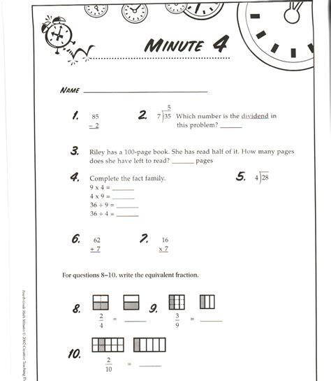 3rd grade math minute worksheets telling time worksheets