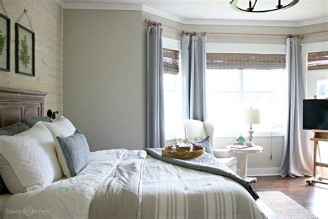 master bedroom makeover  shiplap accent wall  www
