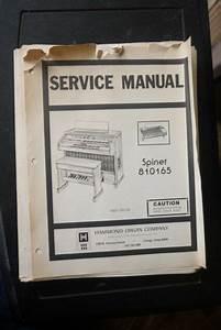 Hammond Organ Spinet 810165 Service Manual And Wiring