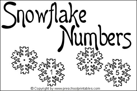 wwwpreschoolprintablescom file folder game snowflake