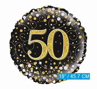 Ballon Goud Zwart Folie Jaar Helium Glitter