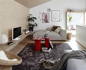 Wohnzimmer mit schr gen sch ner wohnen for Wohnzimmer schöner wohnen