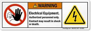 electrical equipment contact may result in shock ansi With electrical equipment labels