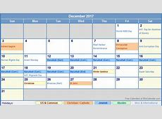 december 2017 calendar with holidays calendar printable free