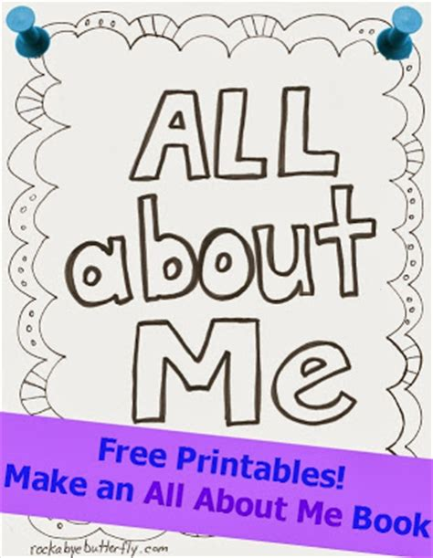 free printable all about me book for preschool free printables for all about me www 396
