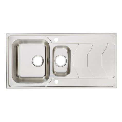 cooke and lewis kitchen sinks cooke lewis buckland 1 5 bowl polished stainless steel 8328