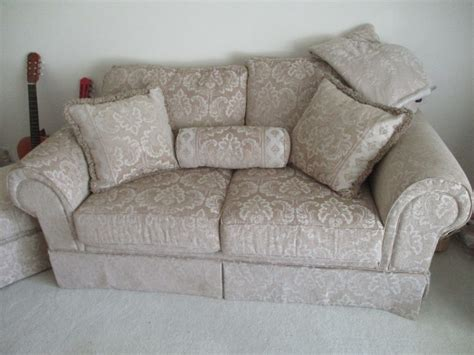 Matching Sofa And Loveseat by Matching Sofa Loveseat Ottoman Footstool Hibid Auctions