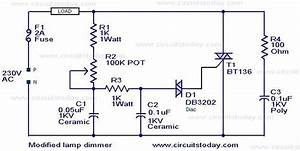 Modified Lamp Dimmer Circuit  U2013 Electronic Circuits And
