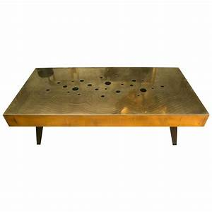 brass and black jade stones coffee table for sale at 1stdibs With brass and stone coffee table