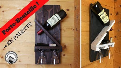 comment fabriquer un support pour bouteille verres de vins projet en bois de palettes
