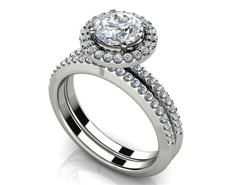 eternal dreams round diamond wedding ring set roco s