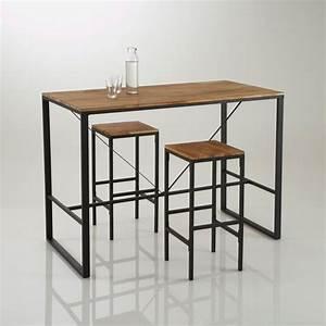 Ide Relooking Cuisine Table De Bar Haute Hiba Inspire
