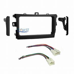 Car Radio Stereo Double Din Dash Kit With Harness For 2009