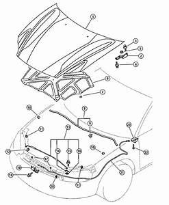 Dodge Stratus Plate  Hood Lock
