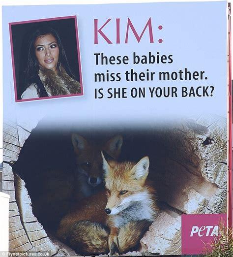 peta attack kim kardashians fur wearing habit