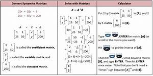 The Matrix And Solving Systems With Matrices  U2013 She Loves Math
