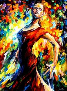 IN THE STYLE OF FLAMENCO — Palette knife Oil Painting on ...