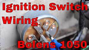 How To Change The Ignition Switch On An Bolens 1050 Garden Tractor