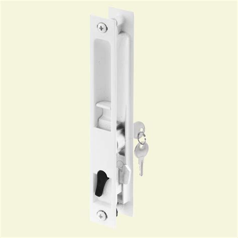 prime line white painted flush mounted sliding patio door