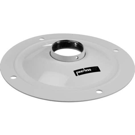 peerless av round ceiling plate white acc570w b h photo