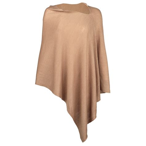 monogram poncho personalized shawl embroidered wrap taupe