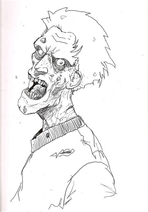 Kids Zombie Coloring Page Coloring Home