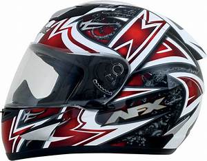 Afx Fx 95 Full Face Motorcycle Helmet Red Mega