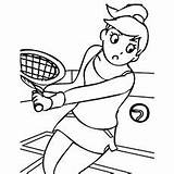 Coloring Pages Sports Tennis Play Printable Sport Interesting Hopscotch Momjunction Healthy Recipes Super sketch template
