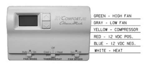 coleman mach 8330 3362 digital heat cool rv thermostat white