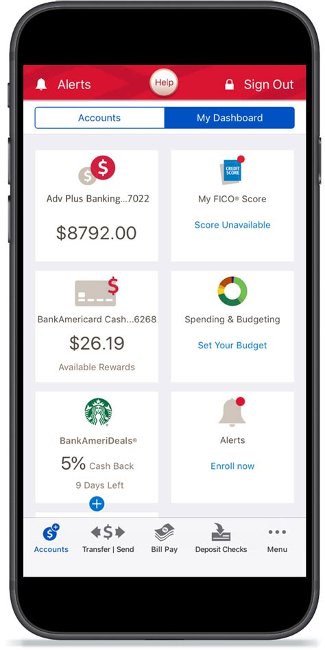 Banking Mobile Application by Mobile And Banking Benefits Features From Bank Of