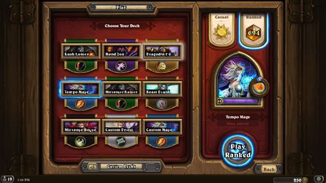 Tempo Mage Deck Hearthpwn by Legend Get Legend Now Tempo Mage Hearthstone Decks
