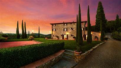 Tuscany Italy Mansion Wallpapers Background Backgrounds Abyss