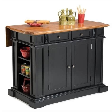 kitchen islands with bar home styles kitchen island with breakfast bar in black ebay
