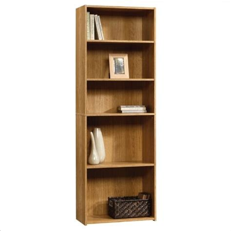 sauder beginnings 5 shelf bookcase in highland oak find