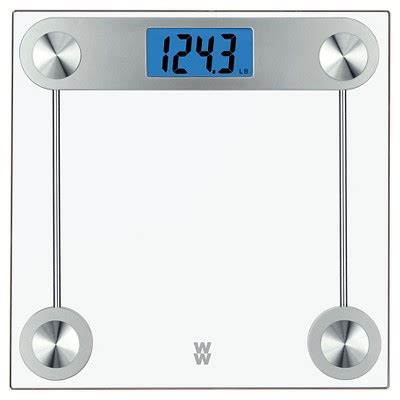 weight watchers  tr clear glass scale conair target