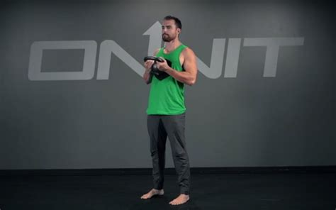 kettlebell chest hinge exercise supported