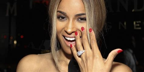 Ciara Engaged Wilson Engaged Ring Price  News On Celebrity